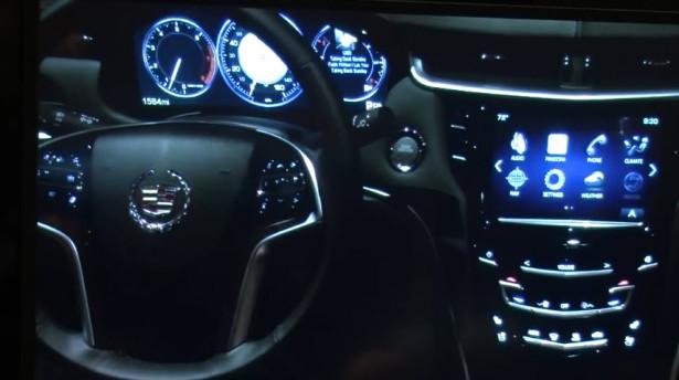 Cadillac SRX CUE подсветка панели